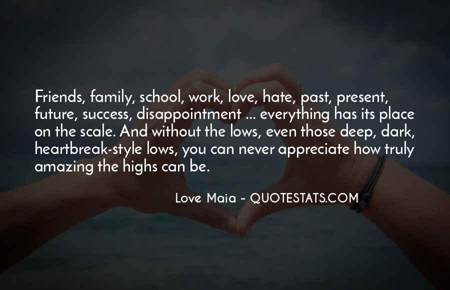 Never Appreciate Love Quotes #130523