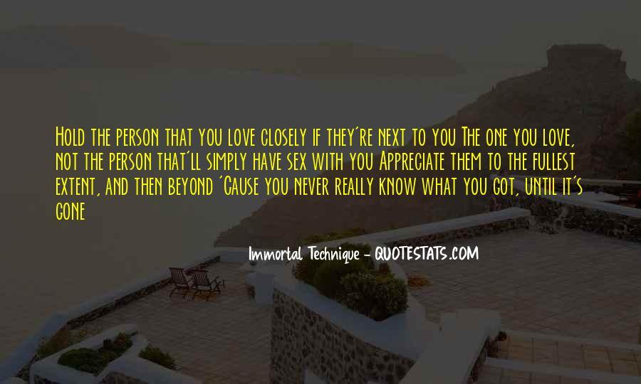 Never Appreciate Love Quotes #418200