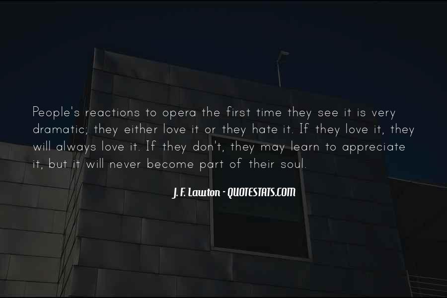 Never Appreciate Love Quotes #919329