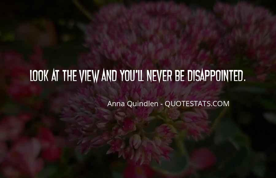 Never Be Disappointed Quotes #688064