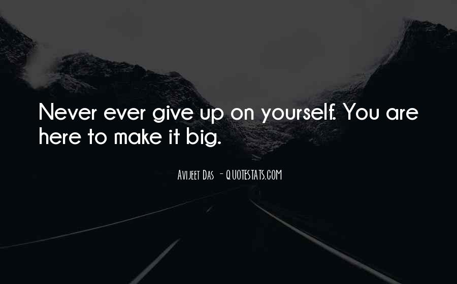 Never Ever Give Up Quotes #1175318