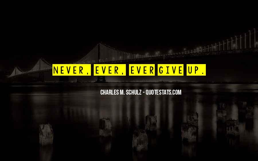 Never Ever Give Up Quotes #1441881