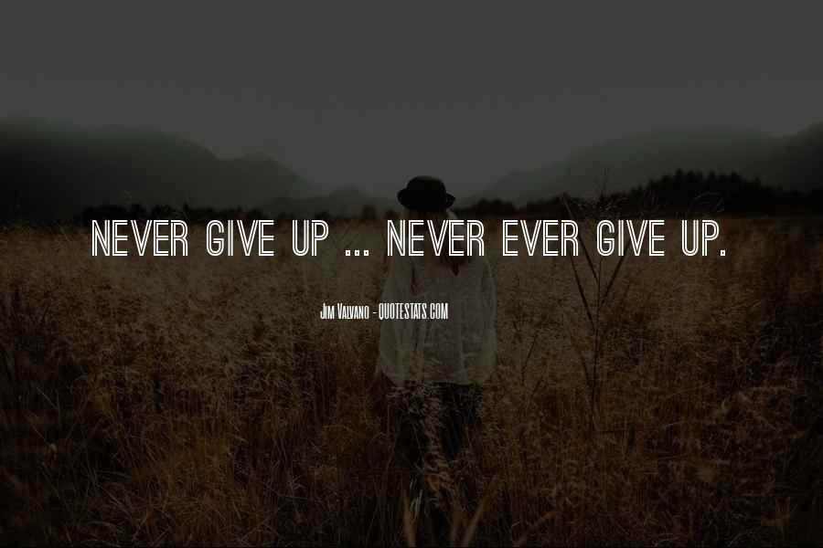 Never Ever Give Up Quotes #1563412