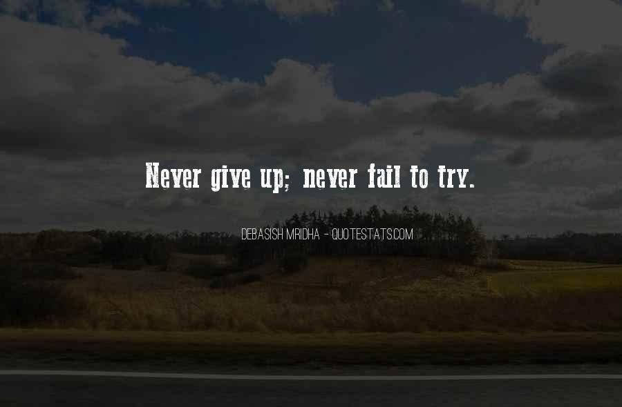 Never Fail To Try Quotes #1744099