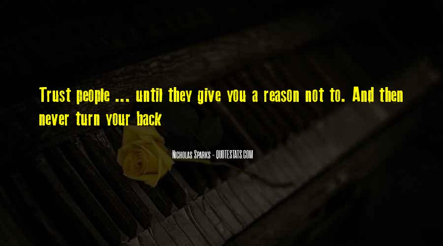 Never Give Back Quotes #1217417
