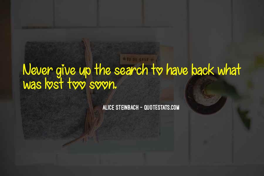 Never Give Back Quotes #33365