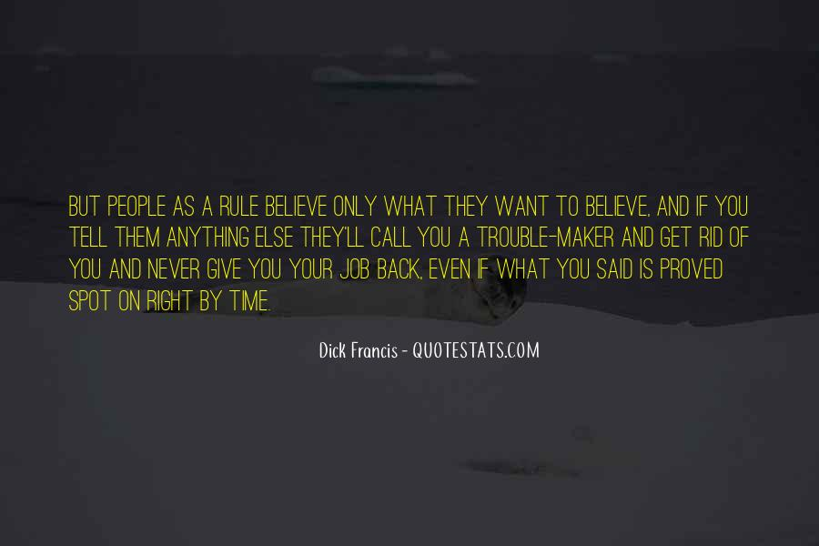 Never Give Back Quotes #561647