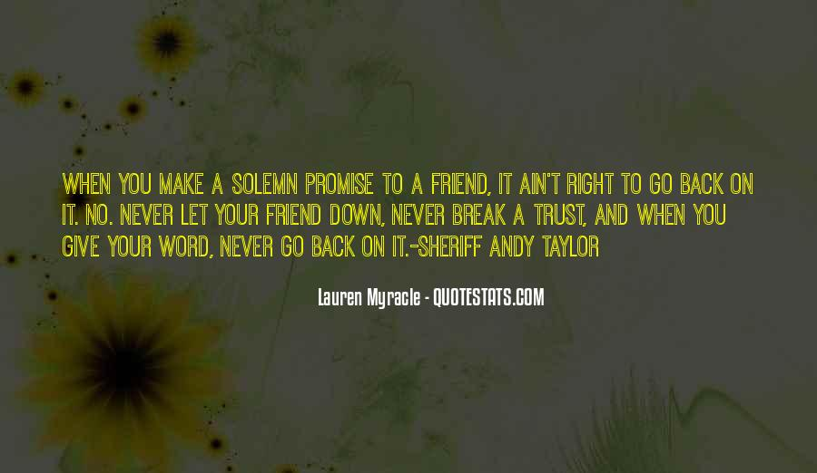 Never Give Back Quotes #585187