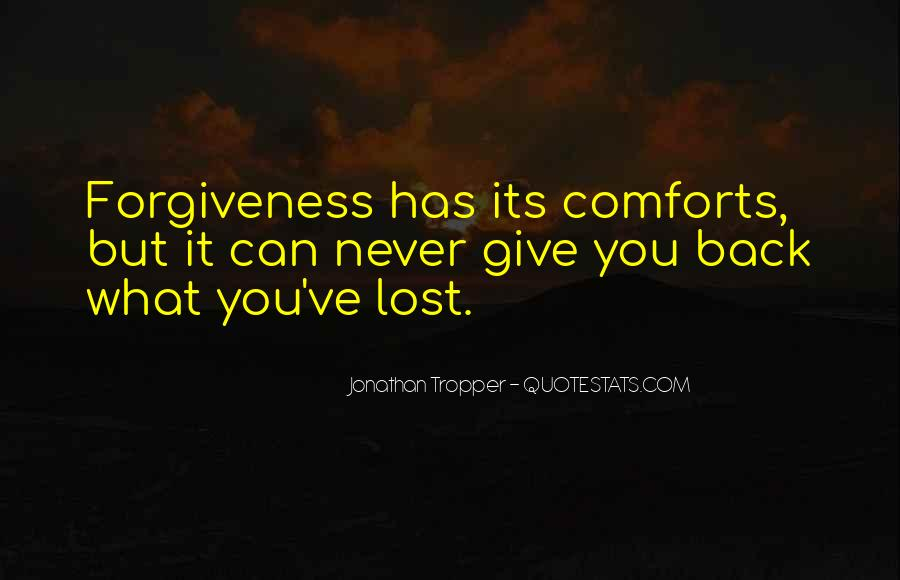 Never Give Back Quotes #64065