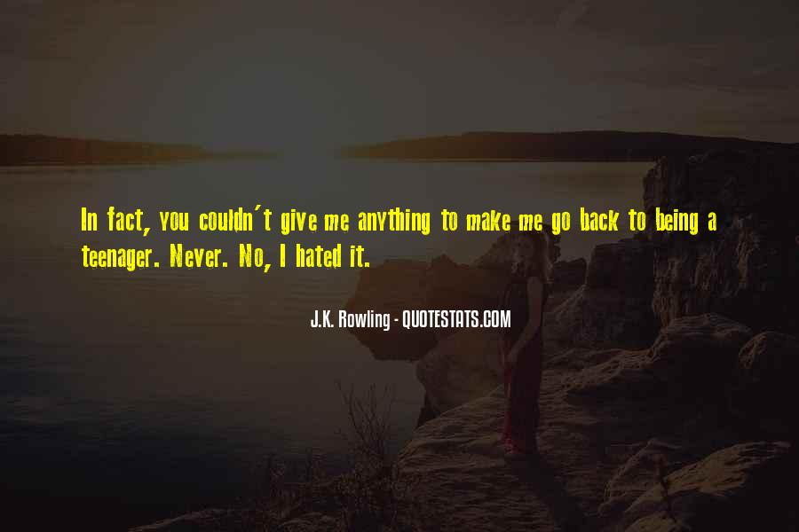 Never Give Back Quotes #67029