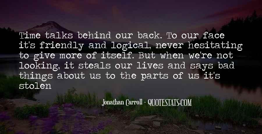 Never Give Back Quotes #818874
