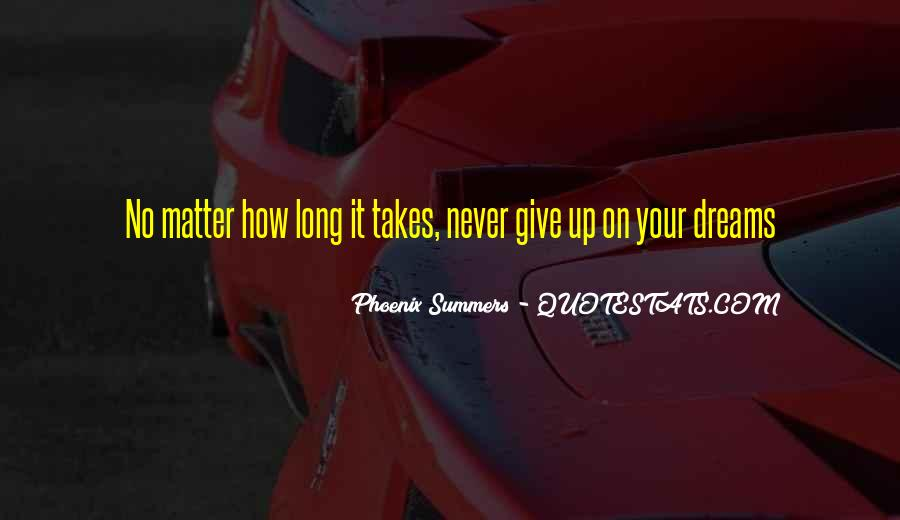 Never Give Up For What You Want Quotes #7610
