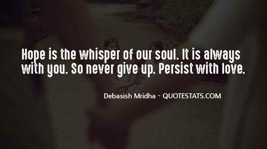 Never Give Up On Us Love Quotes #134580