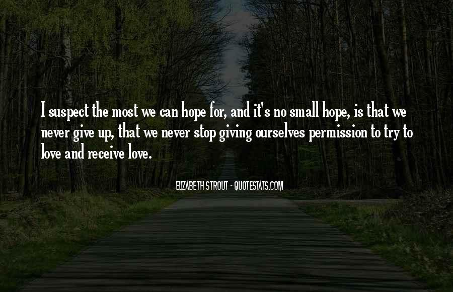 Never Give Up On Us Love Quotes #58932