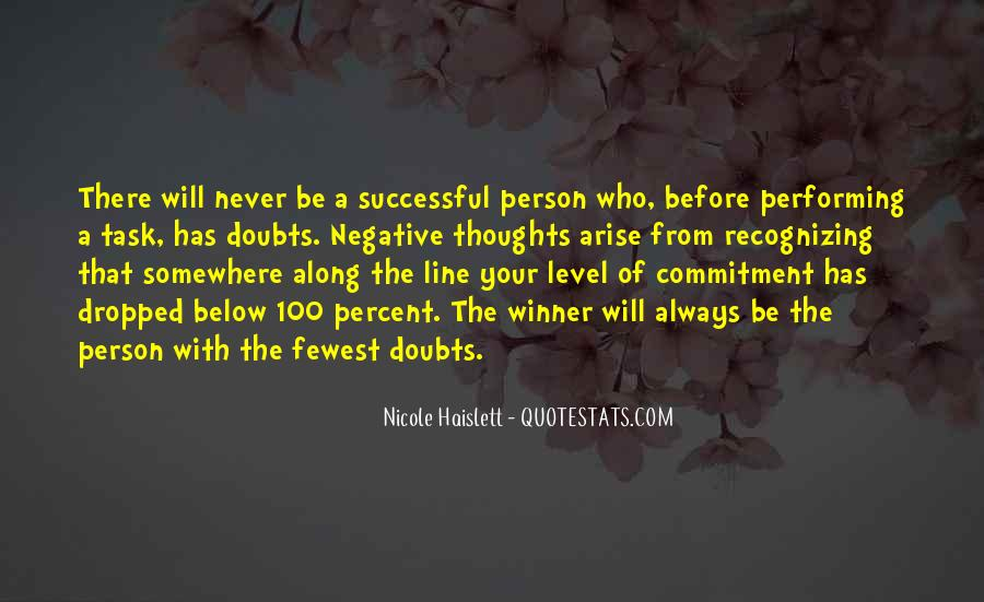 Never Have Doubts Quotes #1013429