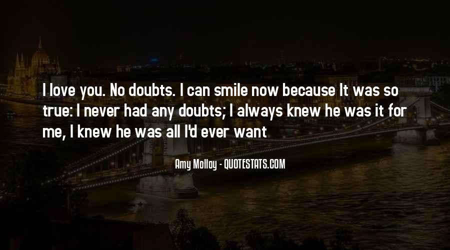 Never Have Doubts Quotes #1028686