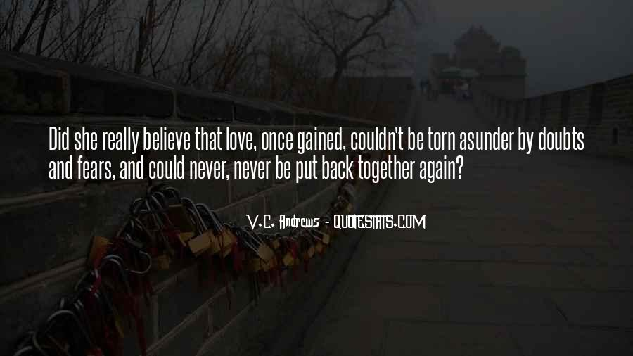 Never Have Doubts Quotes #1509266