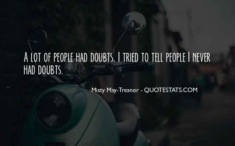 Never Have Doubts Quotes #555914