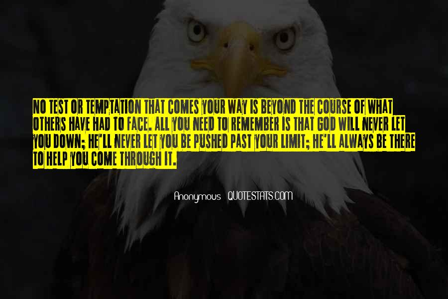 Never Let You Down Quotes #1414861