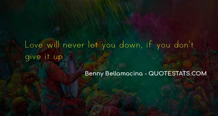 Never Let You Down Quotes #1439751