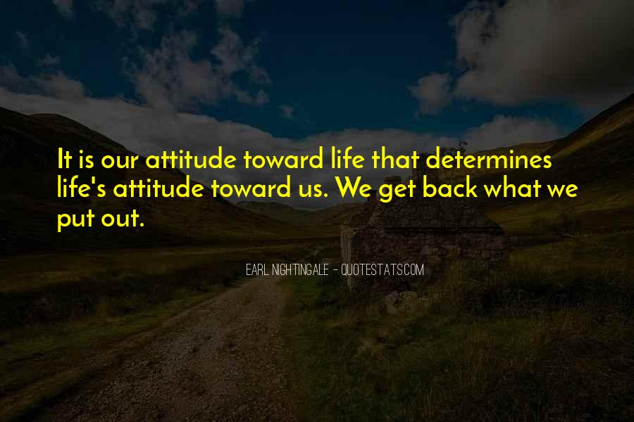Never Look Back Attitude Quotes #250257