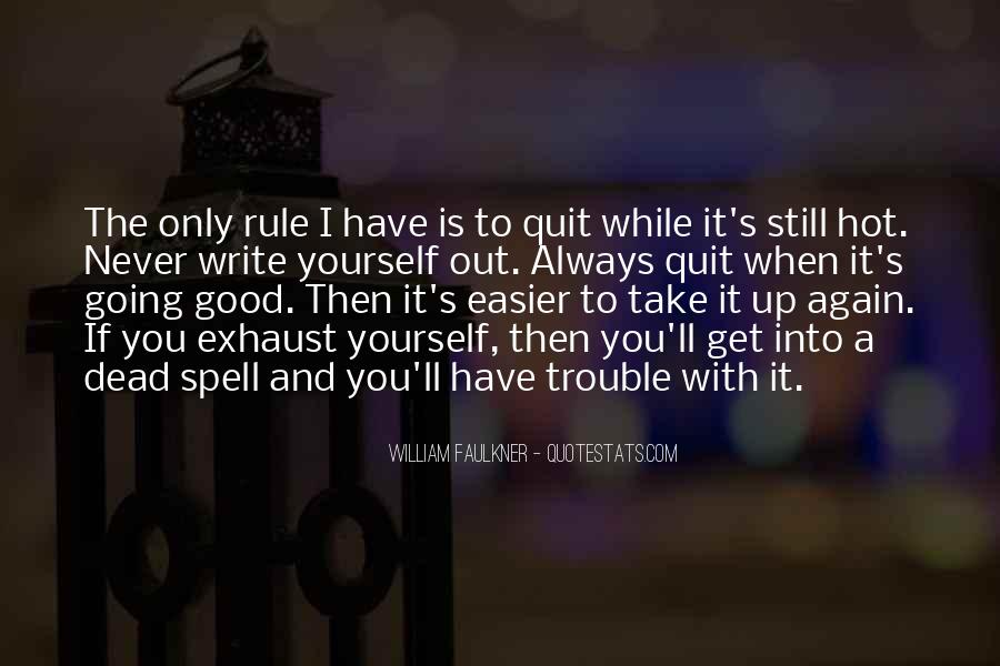 Never Never Quit Quotes #276157