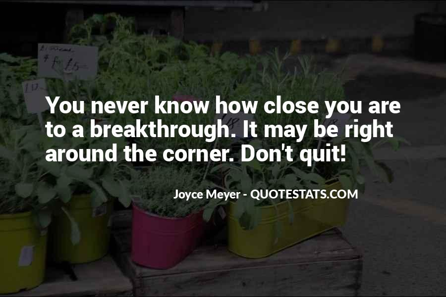 Never Never Quit Quotes #356857