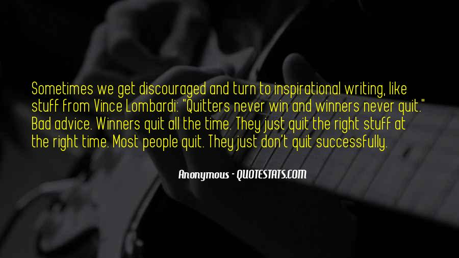Never Never Quit Quotes #414160