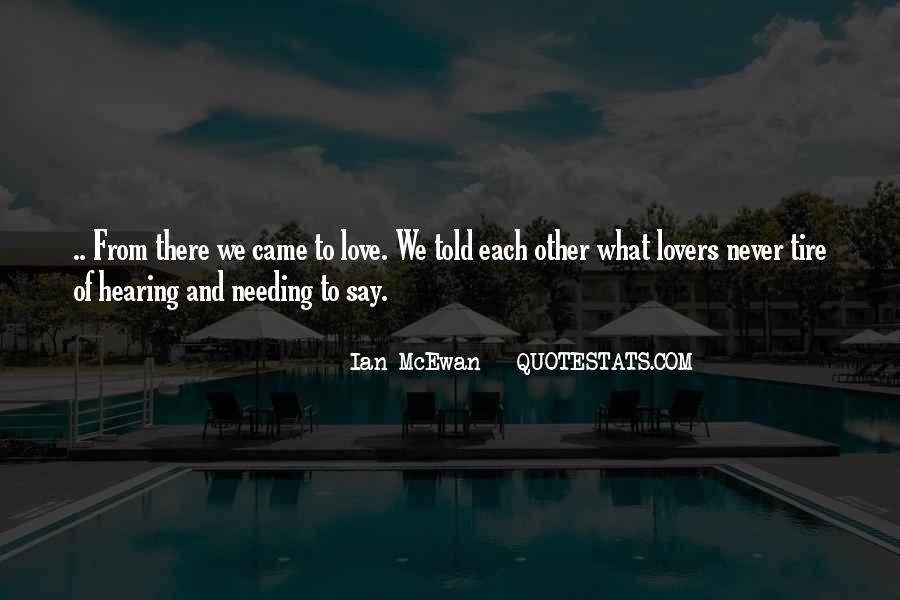 Never Told Love Quotes #55278