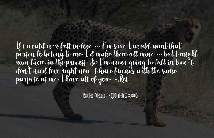 Never Want To Fall In Love Quotes #109296
