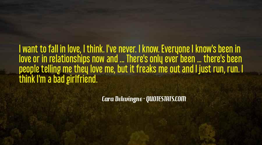 Never Want To Fall In Love Quotes #1332877