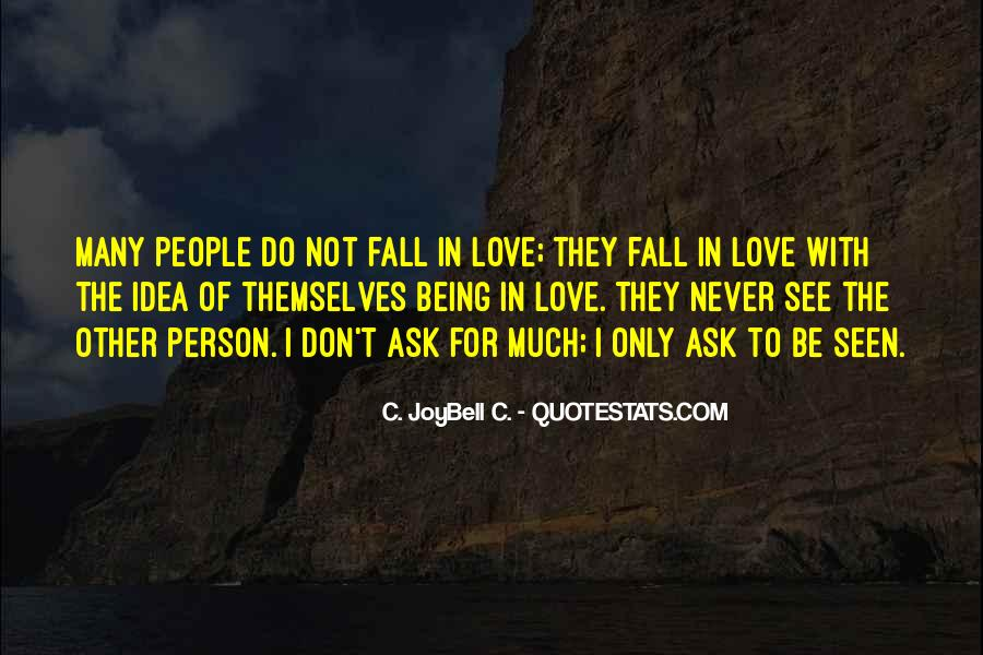Never Want To Fall In Love Quotes #138431