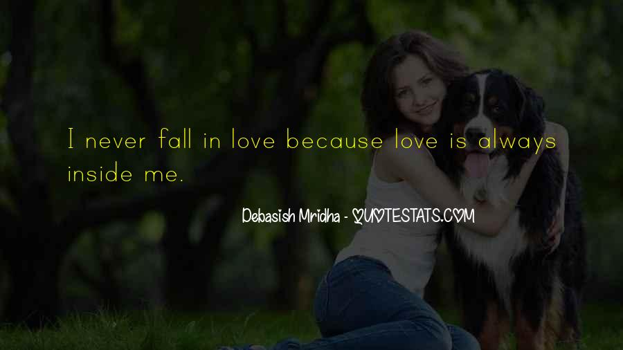 Never Want To Fall In Love Quotes #139055