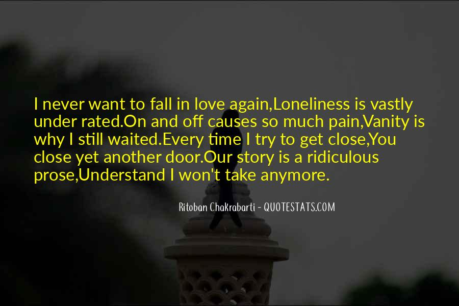 Never Want To Fall In Love Quotes #207791