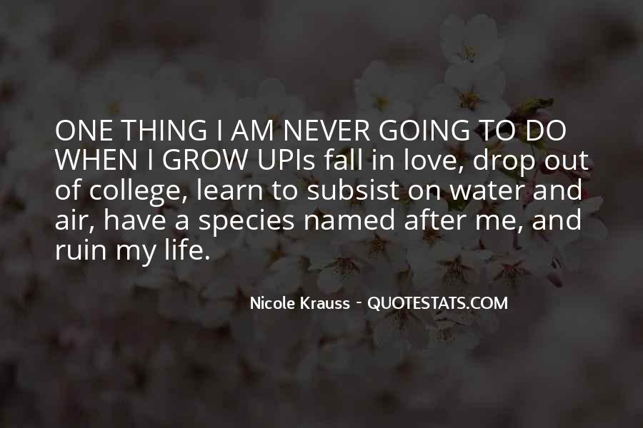 Never Want To Fall In Love Quotes #215160