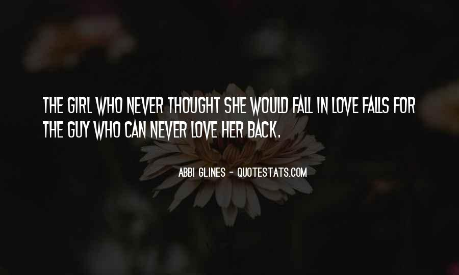 Never Want To Fall In Love Quotes #219100