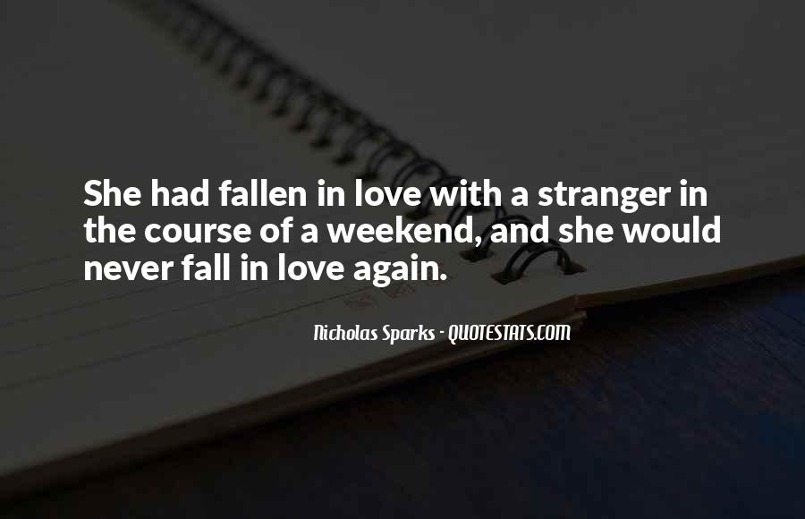Never Want To Fall In Love Quotes #254162