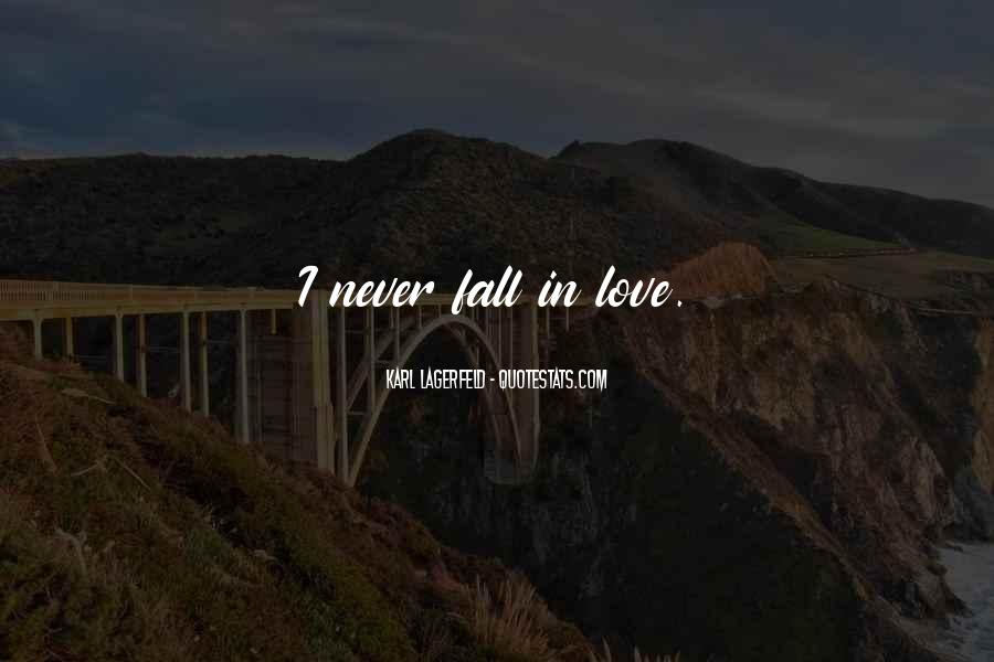 Never Want To Fall In Love Quotes #329538