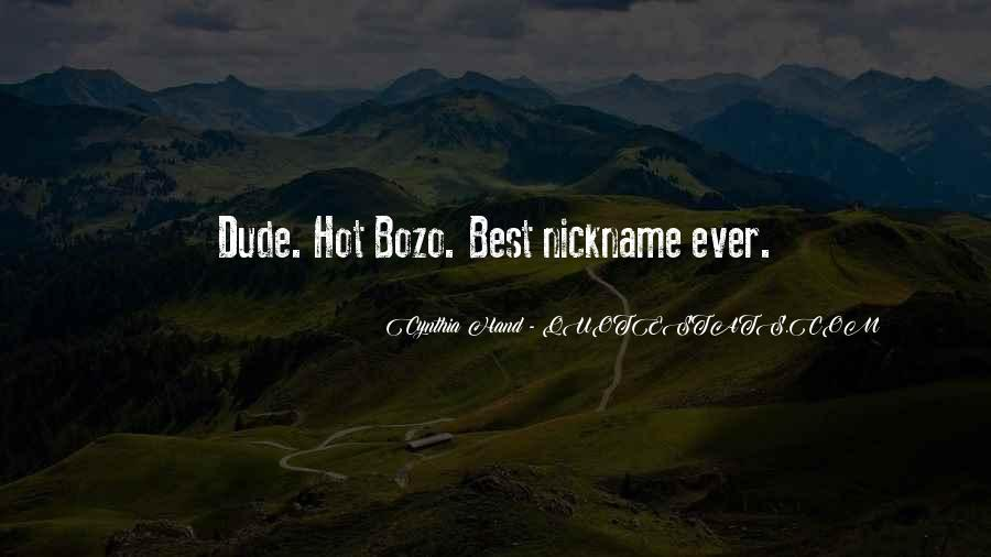 Nickname Quotes #384813