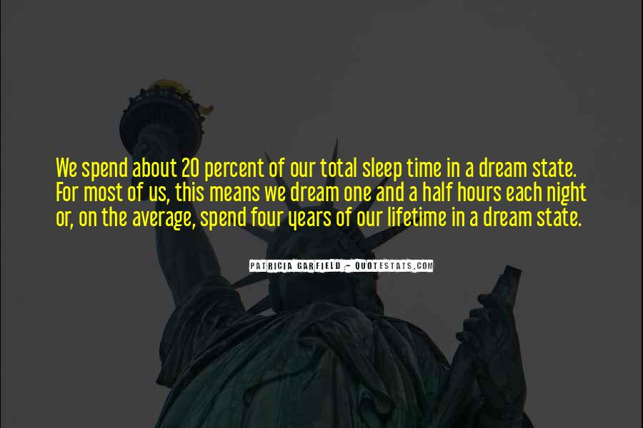 Night Time Dream Quotes #1669085