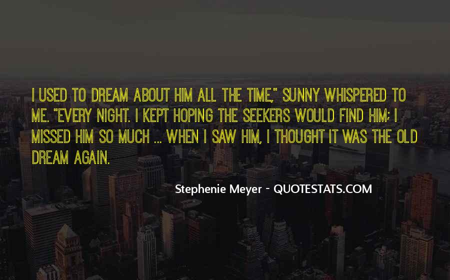 Night Time Dream Quotes #65033