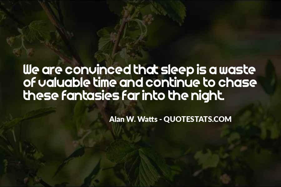 Night Time Sleep Quotes #249858