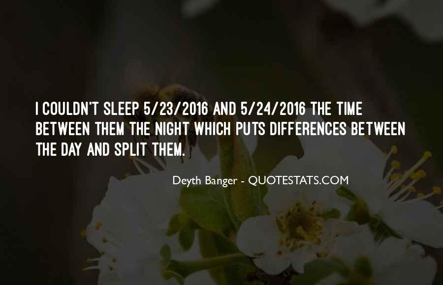 Night Time Sleep Quotes #253192
