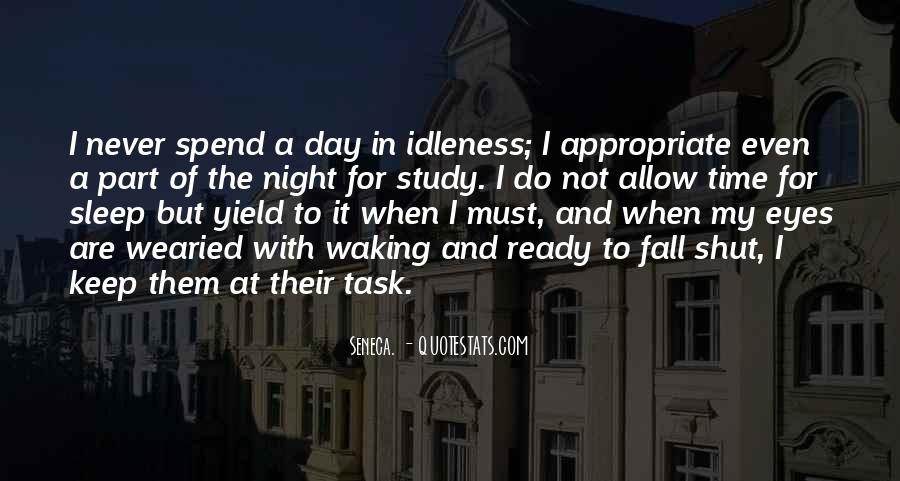 Night Time Sleep Quotes #389634