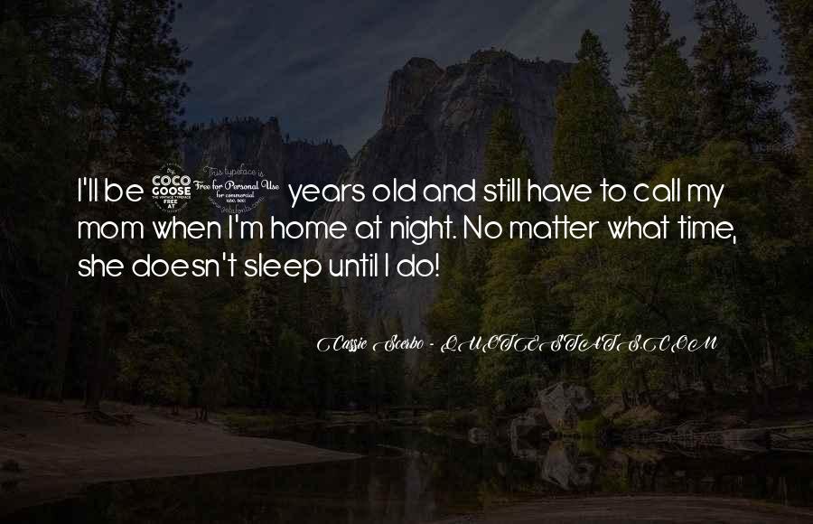 Night Time Sleep Quotes #921370