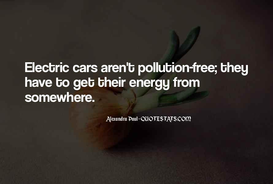Quotes About Car Pollution #339875
