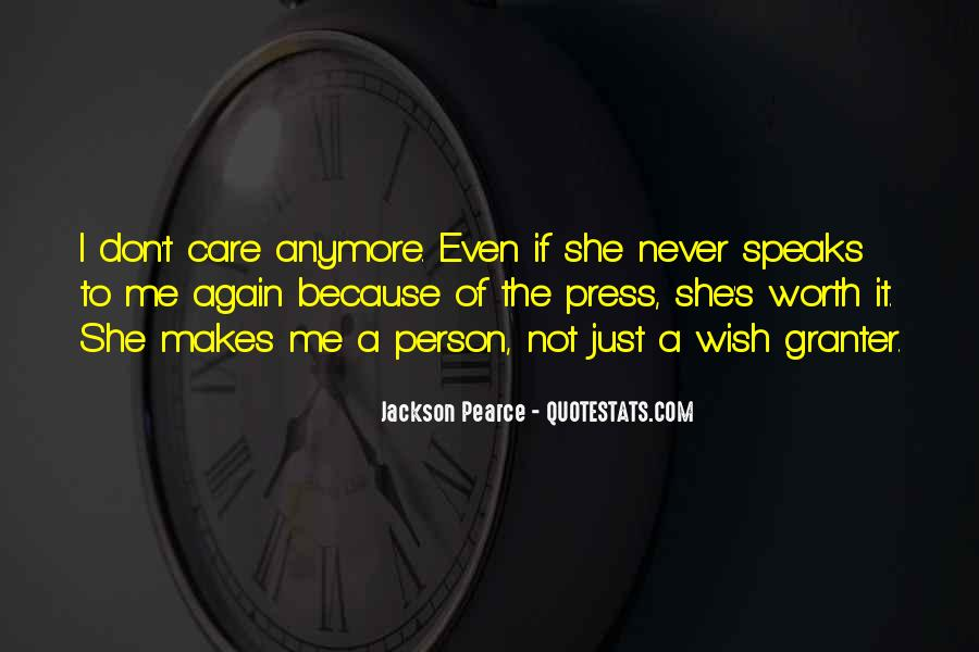 No Care Anymore Quotes #11031