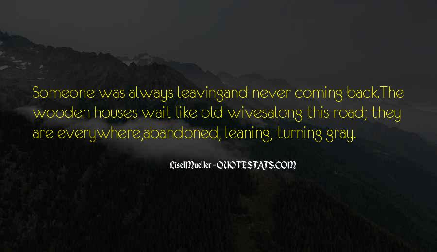 No Coming Back Quotes #14275
