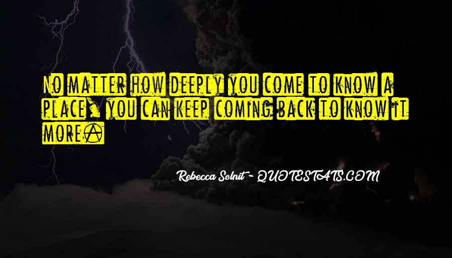 No Coming Back Quotes #214049