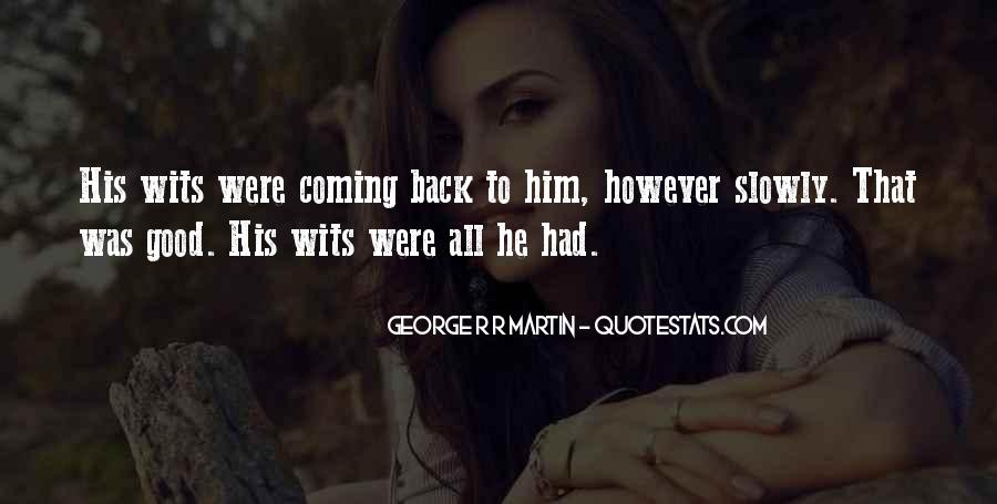 No Coming Back Quotes #51876